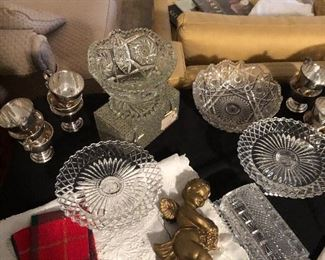Lots of vintage and antique glassware for your holiday table