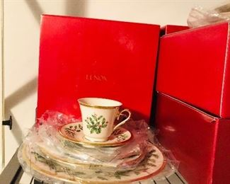 One of several sets new in box Lenox Holiday