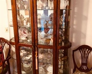 Display cabinet filled to the brim