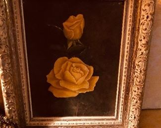 Beautiful antique oil of a rose