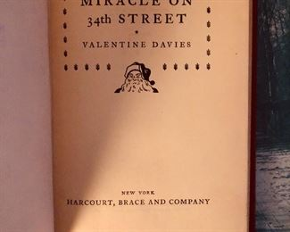 Your very own 1st edition copy of Miracle on 34th street