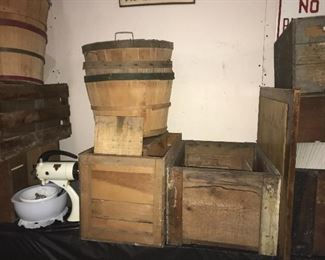 FRUIT BASKETS, WOODEN BOXES