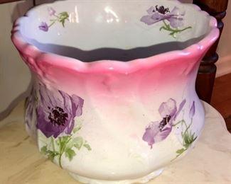 Victorian hand painted jardinière  or vase/flowerpot.