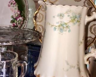 antique French Haviland lemonade pitcher