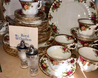 Royal Doulton service for eight old country rose china
