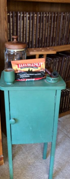 Pipe stand and smoking table painted.