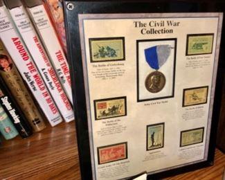 framed stamp collection