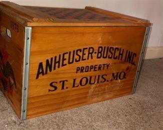 Anhwuser-Bush wood box