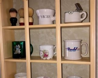 collection of shaving mugs