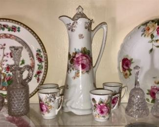 Victorian China and glassware items.