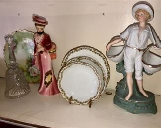 Antique Victorian China and figurines.