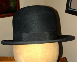 Mans antique derby hat