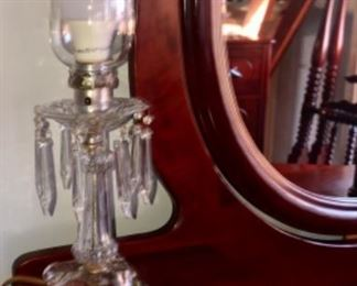 Lead crystal lamps