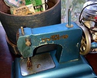 Small antique sewing machine