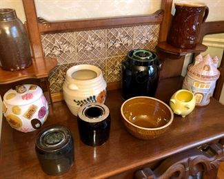 Collection of antique pottery