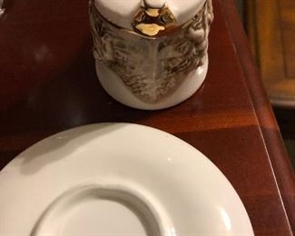 Capodimonte cup and saucer Italian by