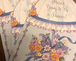 Vintage baby cards. We also have vintage valentines cards