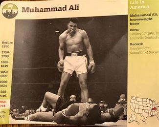 Muhammad Ali collector card