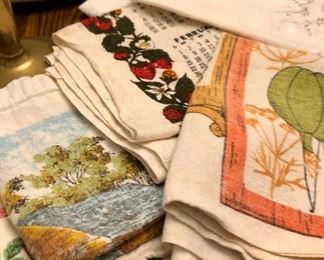 Vintage calendar tea towels