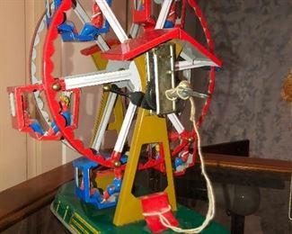 Tin fares-wheel toy, works