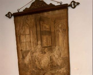 antique (we think English or French) tapestry.