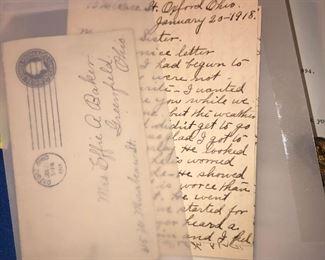 1918 envelope and letter