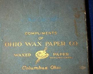 Promotional item Ohio wax paper Co, playing cards, double set