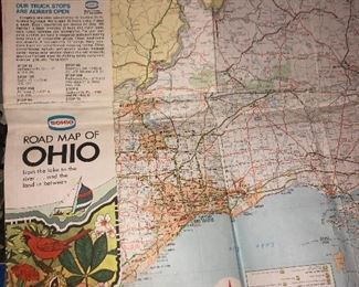 Vintage Ohio map collection.