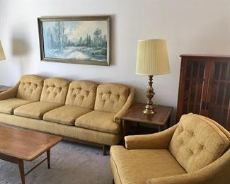 Sofa, chair, end tables