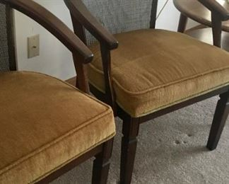Padded wood side chairs