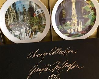 Franklin McMahon Chicago Collection Plates
