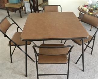 Card table 4 chairs