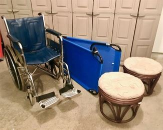 Wheel chair cot  stools