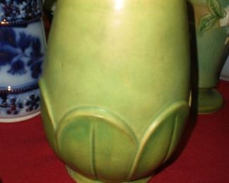"Waller art pottery arts and crafts 10"" vase"