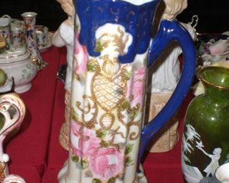 large Imari type pitcher