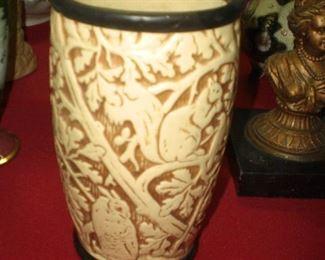 Weller art pottery Squirrel pattern arts & crafts vase
