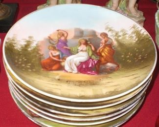set of Angelica Kauffman decorated plates