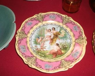 hand painted cabinet plate