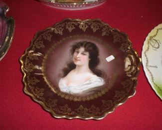 beehive marked Austrian portrait plate and many other portrait plates