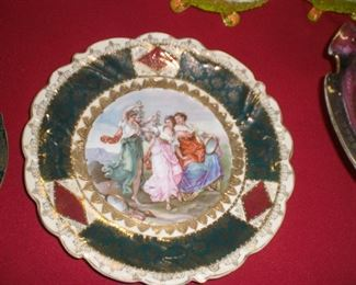 A. Kauffman decorated cabinet plate