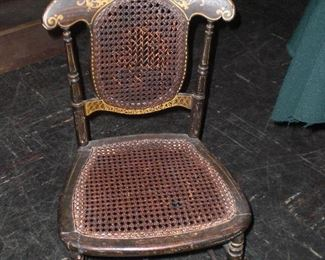 hand painted black and gold youth chair c.1800