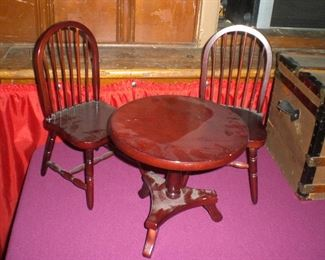 doll size table and chairs