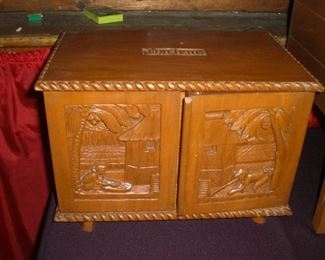 South Pacific carved wood jewelry box