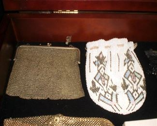 beaded and mesh bags