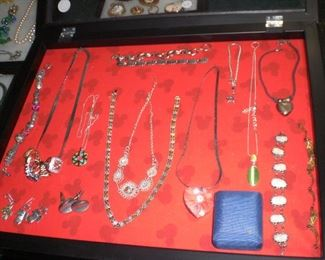 trays of sterling jewelry