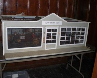 Grant's General Store diorama with figures and miniatures