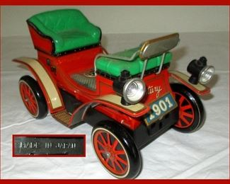 Vintage Tin Jalopy Toy Car Made in Japan