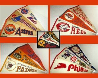 Baseball, World and NFL Football League Pennants