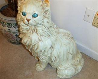 Large ceramic cat