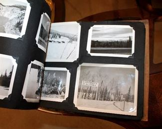 Vintage Alaska photo album full of pictures